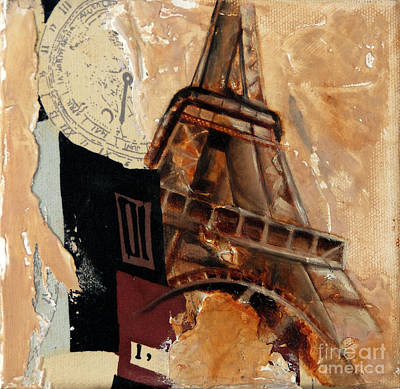 Eiffel Tower Mixed Media - Take Time L by Robin Sloan
