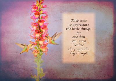Photograph - Take Time - Purple by Lynn Bauer