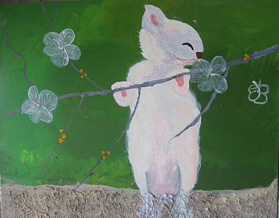 Painting - Take Time To Smell The Flowers by AJ Brown
