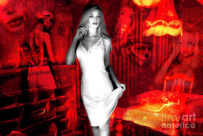 Digital Art - Taken To The Red Room by John Rizzuto