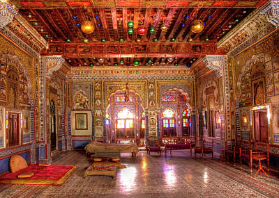 Colorful People Abstract Royalty Free Images - Takhat Vilas, Mehrangarh Fort Royalty-Free Image by Doug Matthews