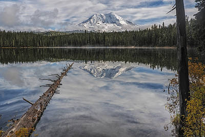 Photograph - Takhlakh Lake With Mount Adams by Loree Johnson