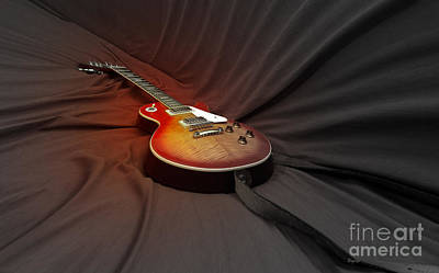 Epiphone Guitars Photograph - Taking A Break From My Hands by Steven Digman