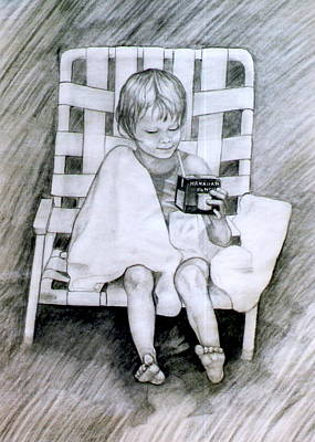 Drawing - Taking A Break by James McAdams