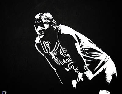 Michael Jordan Painting - Taking A Breather by Matthew Formeller