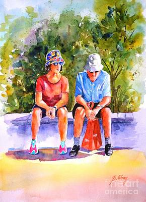 Painting - Taking A Rest - 2 by Betty M M Wong