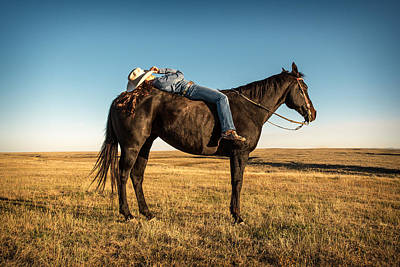 Western Horse Photograph - Taking A Snooze by Todd Klassy