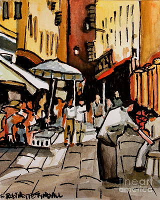 Elizaart Painting - Taking A Stroll Through Downtown by Elizabeth Robinette Tyndall