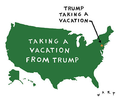Digital Art - Taking A Vacation From Trump by Kim Warp