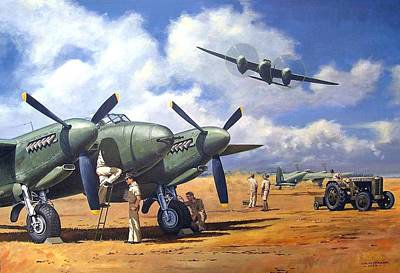 Painting - 'taking Delivery - Mosquito' by Colin Parker