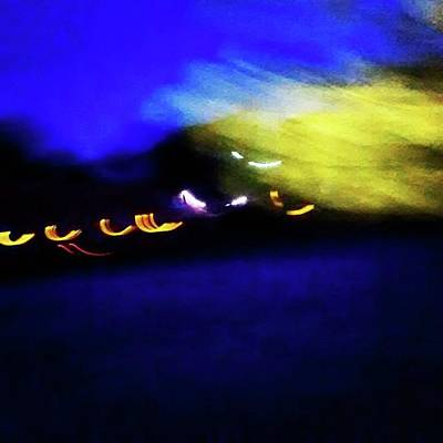 Abstract Photograph - Taking Flight. Abstract At Night. On by Genevieve Esson