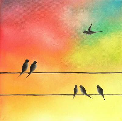 Colorful Sky Painting - Taking Flight by Rachel Bingaman