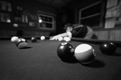 8 Ball Photograph - Taking His Shot by Todd Klassy