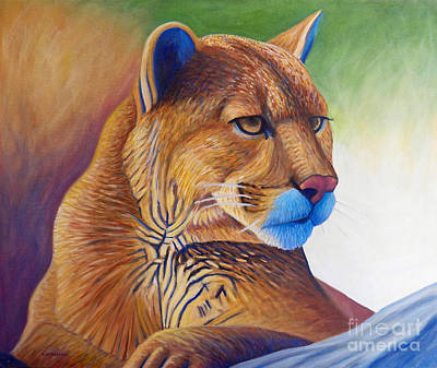Puma Painting - Taking It All In by Brian  Commerford