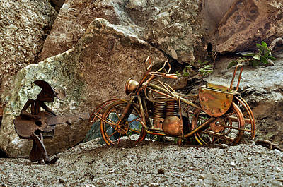 Motorcycle Cowboy Photograph - Taking It Easy by William Jones