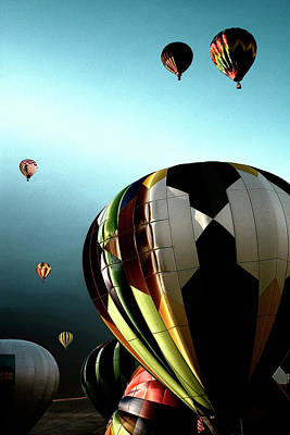 Balloons Photograph - Taking Off by David Patterson