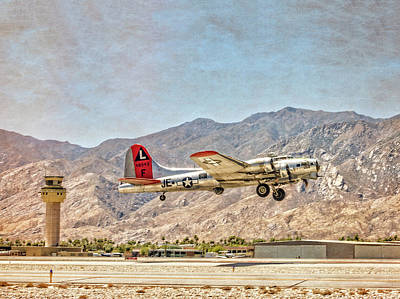 Photograph - B-17 Madras Maiden Taking Off by Sandra Selle Rodriguez