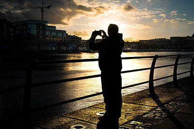 35mm Photograph - Taking Pictures - Dublin, Ireland - Color Street Photography by Giuseppe Milo