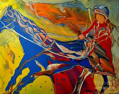 Painting - Taking The Reins by Deborah Nell