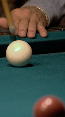 Cue Ball Photograph - Taking The Shot by Karen Musick