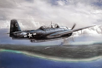 U.s. Navy Digital Art - Taking Tinian by Peter Chilelli
