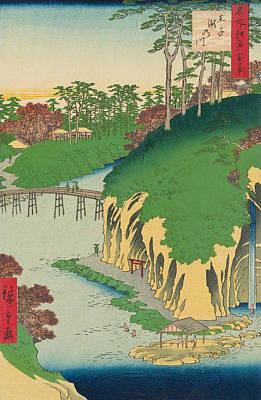 Edo Period Painting - Takinogawa, Oji by Utagawa Hiroshige