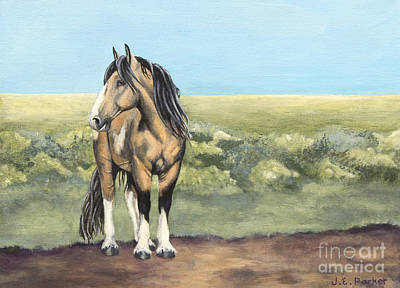 Mustang Painting - Takotda The Wild Mustang Stallion by Jordan Parker