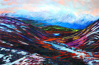 Taku River Headwaters Art Print by Faye Dietrich
