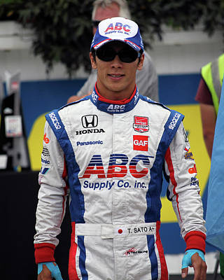 Takuma Sato - Portrait Art Print by Mark A Brown