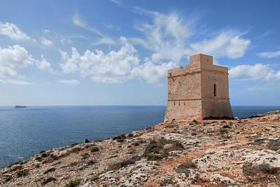 Tal-hamrija Coastal Tower - Malta Art Print