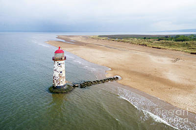 Photograph - Talacre Aerial 2 by Steev Stamford