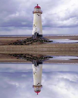 Photograph - Talacre Beach Lighthouse by Anthony Dezenzio
