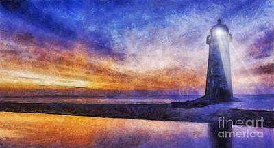 Navigation Digital Art - Talacre Lighthouse by Ian Mitchell