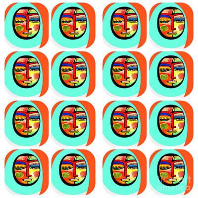 Mixed Media - Talavera Sun Woman by Sandra Silberzweig