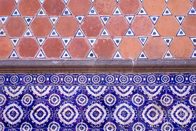 Photograph - Talavera Tiles Horizontal Puebla Mexico by John  Mitchell