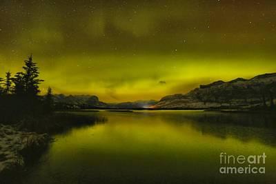 Photograph - Talbot Lake Aurora Borealis by Adam Jewell