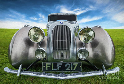 Numbers Digital Art - Talbot T23 Figoni Et Falaschi Coupe by Adrian Evans