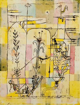 Drawing - Tale A La Hoffmann by Paul Klee