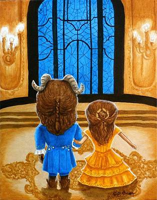 Art Print featuring the painting Tale As Old As Time by Al  Molina