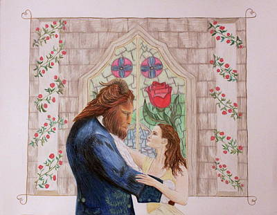 Beauty And The Beast Drawing - Tale As Old As Time by Alyson Weiss