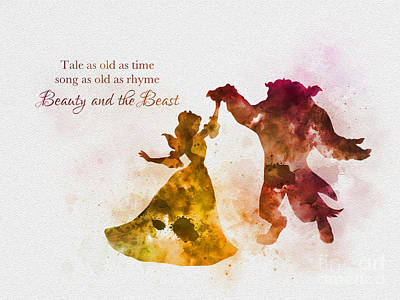 Tale As Old As Time Art Print by Rebecca Jenkins