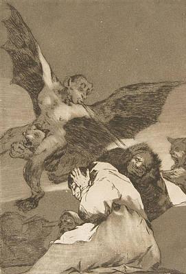 Relief - Tale-bearers--blasts Of Wind by Francisco Goya