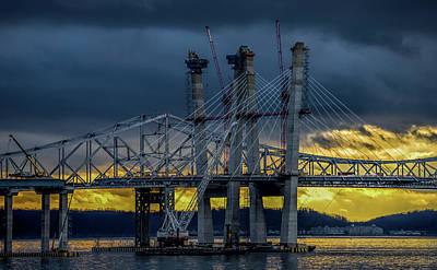 Photograph - Tale Of 2 Bridges At Sunset by Jeffrey Friedkin