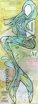 Mixed Media - Tale Of Blue Marrow by Annalisa Loevenguth