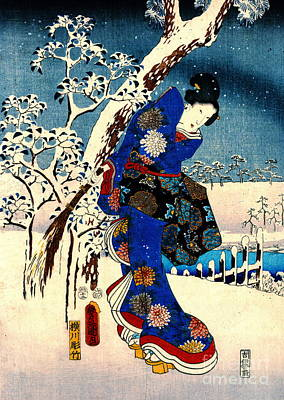 Ando Hiroshige Photograph - Tale Of Genji 1853 Left by Padre Art