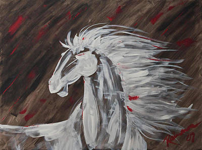 Tale Of The Wind Horse Art Print by Stephane Trahan
