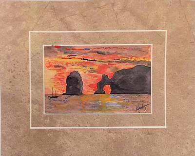 Sea Of Cortez Painting - Tale Of Two Seas Cabo San Lucas by Kenlynn Schroeder