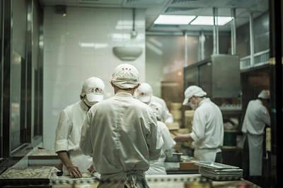 Photograph - Talented Chefs by Sebastien Chort