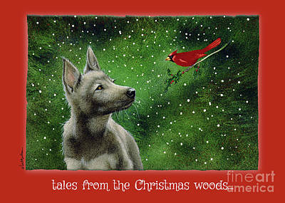 Painting - tales from the Christmas woods... by Will Bullas