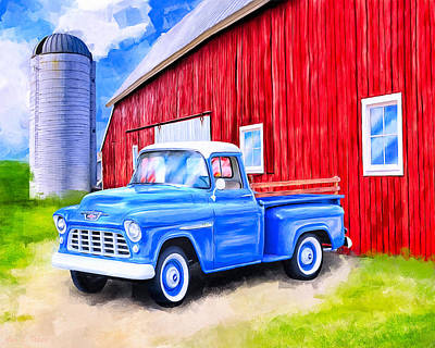 Old Barns Mixed Media - Tales From The Farm by Mark Tisdale